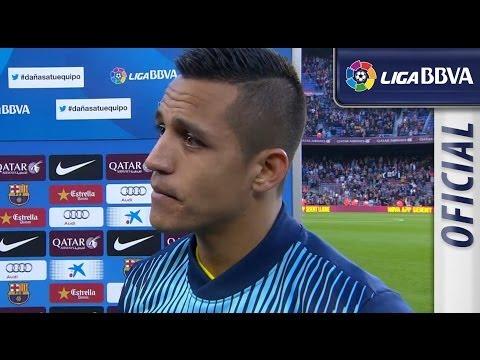Entrevista | Interview Alexis tras el FC Barcelona (7-0) Osasuna - HD