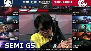 TL vs CG - Game 5 | Semi Finals S9 LCS Summer 2019 | Team Liquid vs Clutch Gaming G5