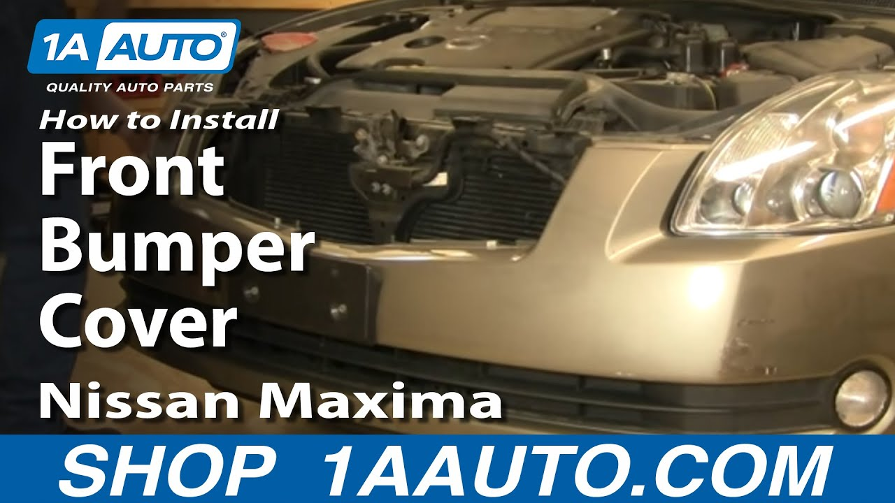 How To Install Replace Front Bumper Cover Nissan Maxima 04