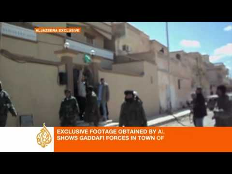 Rare footage shows Gaddafi troops patrolling Ajdabiya