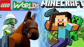 Lego Worlds VS Minecraft COMPARISON - Which is Better?