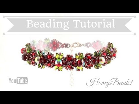 Perfect Imperfections Bracelet 2 (superduo edition) Beading Tutorial by HoneyBeads1