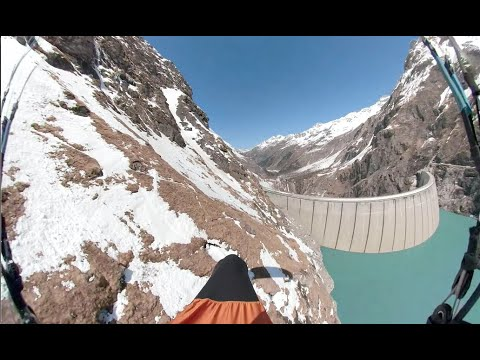 190km XC paragliding flight in the Alps with low save
