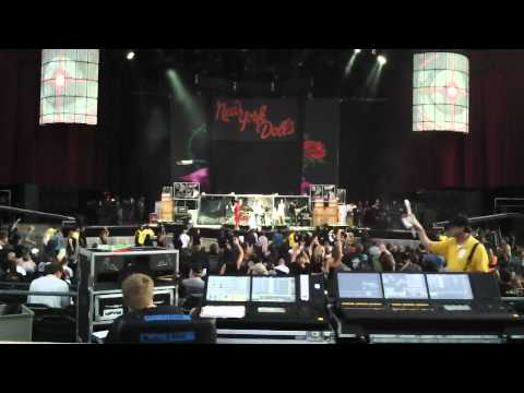 NEW YORK DOLLS WITH MICK MARS '11 LIVE JASON SUTTER DRUMS