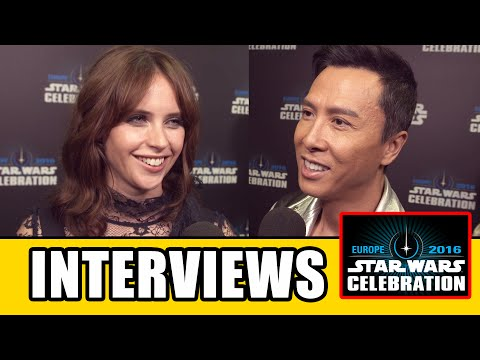 ROGUE ONE Star Wars Celebration Cast Interviews - Felicity Jones, Ben Mendelsohn, Donnie Yen