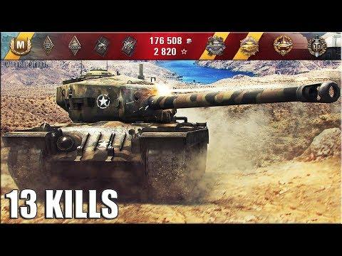 13 фрагов на Т34 прем танк США
