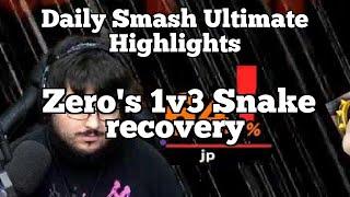 Daily Smash Ultimate Highlights: Zero's 1v3 Snake recovery