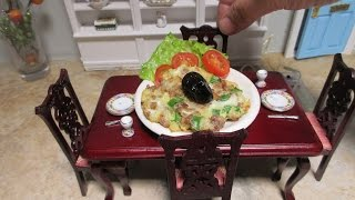 Miniature cooking -Real tiny edible food - Ground pork recipe - Cooking with Ching