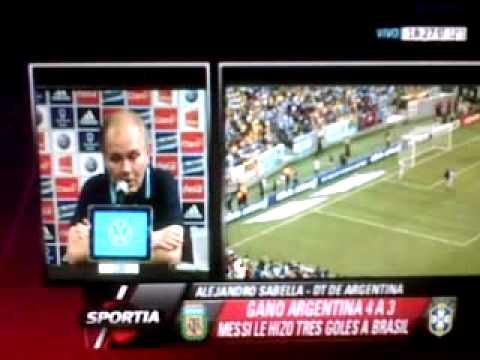 """Alejandro Sabella:""""Tenemos la suerte de que Messi es argentino"""""""