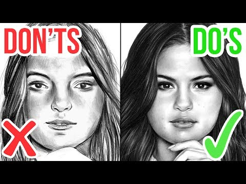 DO'S & DON'TS: How To Draw a Face |  Realistic Drawing Tutorial Step by Step