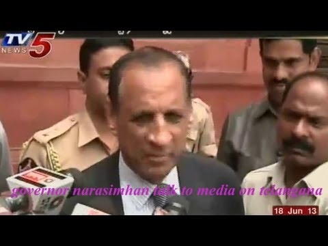 governor narasimhan talk to media on telangana -   TV5
