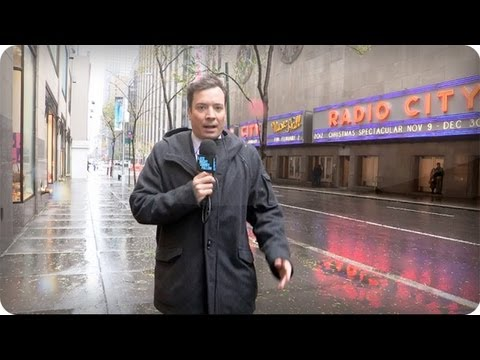 Late Night with Jimmy Fallon Hurricane Sandy Cold Open + Monologue
