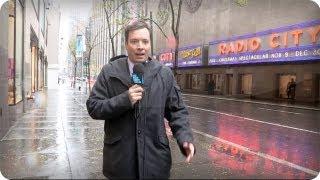 Late Night with Jimmy Fallon Hurricane Sandy Cold Open + Monologue (Late Night with Jimmy Fallon)