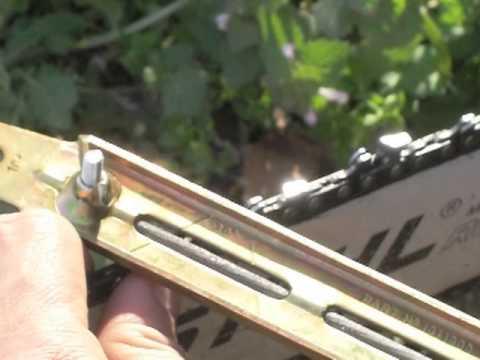 Aiguiser une cha ne de tron onneuse la lime ronde youtube - Comment aiguiser une chaine de tronconneuse ...