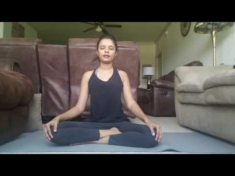 Quick Mindful meditation - back pain yoga for beginners!