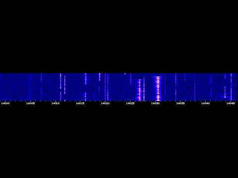 Some CW signals on 20 meters from WebSDR University of Twente [ 7 0kt 2012 ]