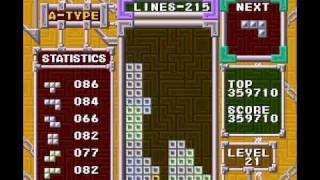TAS Speed Run: Tetris record SNES