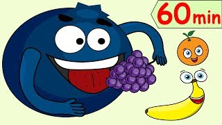 Fruit, Shapes, ABC, Numbers, Phonics + More Kids Songs | 60min Collection