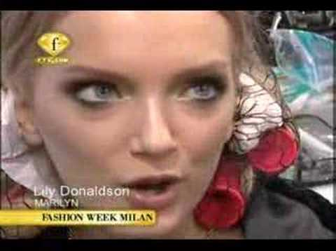 Lily Donaldson Versace interview