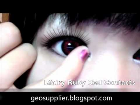Beautiful Red Contact Lenses