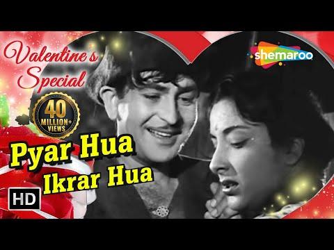 Pyar Hua Ikarar Hua - Raj Kapoor & Nargis - Shree 420 - Bollywood...