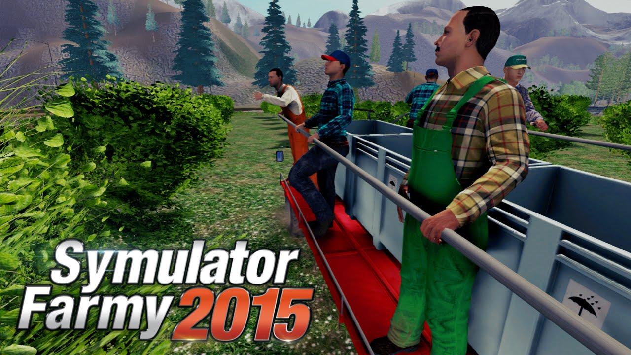 Symulator Farmy 2015 - Zbieranie owoców - YouTube