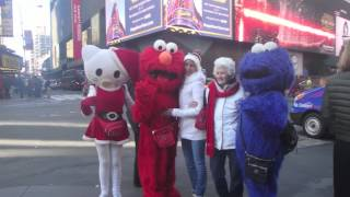 Crazy !!! Scams in NYC Times Square | Fake Disney Characters 2016