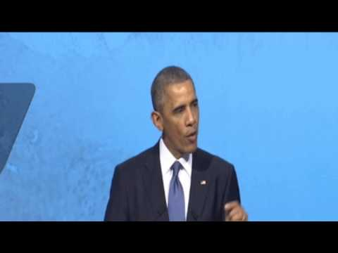 Barack Obama, President of the United States, at the APEC CEO Summit.