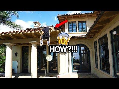 FAN CLIMBS THE FAZE HOUSE LA IN 15 SECONDS...