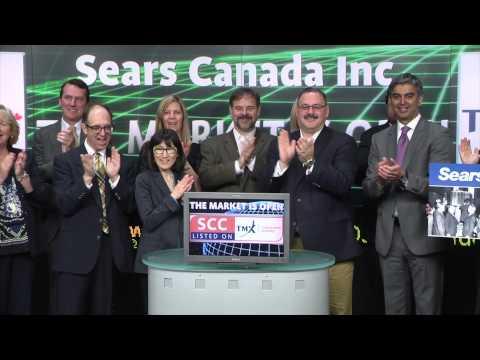 Sears Canada (TSX:SCC) opens Toronto Stock Exchange, April 16, 2015