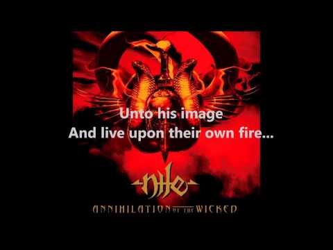 Nile - Annihilation of the Wicked w/ lyrics on screen