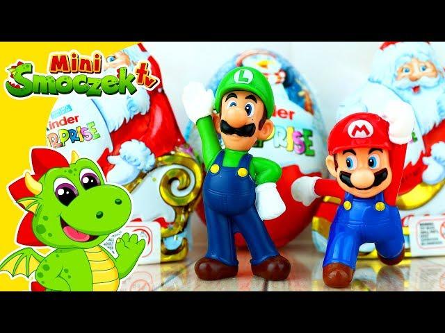 Mario i Luigi - Kinder Jajka Niespodzianki i Zabawki Na Święta!