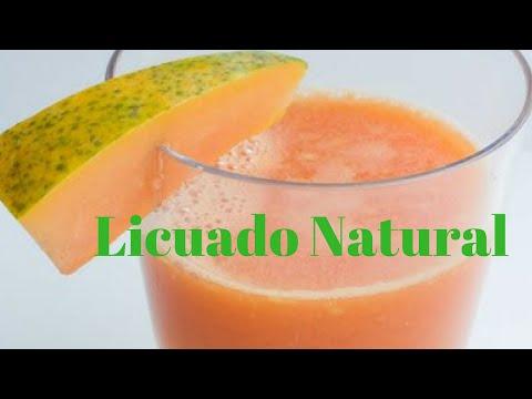 Licuado Natural de Papaya para BAJAR DE PESO ♦ consaboraKaFé
