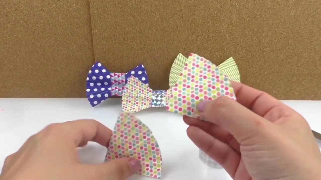 Kokardki z papilotek do muffików | prosta dekorcja do prezentów i kartek