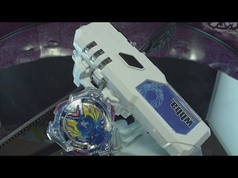 Beyblade Burst ベイブレードバースト B-01 DX Starter Valkyrie Wing Accel UNBOXING, REVIEW and TEST !! AWESOME