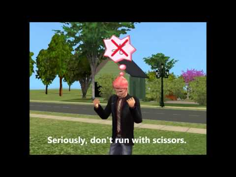 The Sims 2 Running with scissors