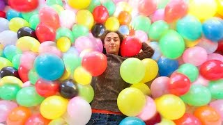 ROOM FILLED WITH 1000 BALLOONS PRANK!