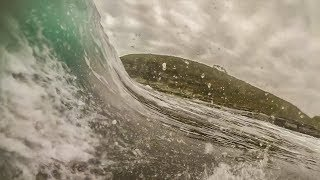 Bodyboarding Shallow Reef Old Woman Island || POV