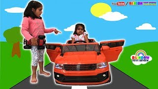 Power Wheels Ride on Cars for Kids Baby Sisters Pretend Play with Battery Powered Super Car Unboxing