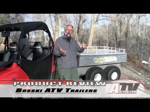 ATV Television Product Review - Bosski ATV Wagon 1600 Aluminum ATV Trailer
