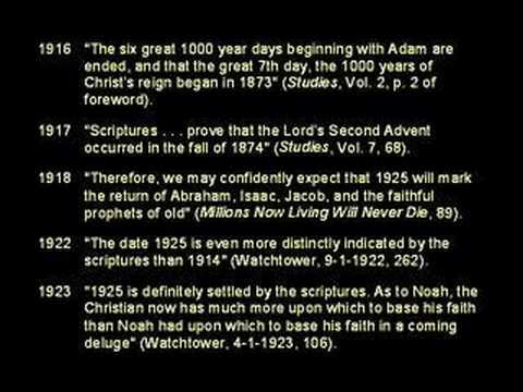 The False Prophecies Of The Watchtower