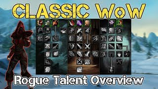 Classic WoW | Rogue Talents Overview