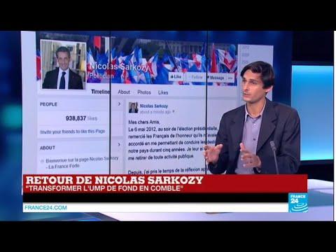 Nicolas Sarkozy fait son retour en politique, candidat à la présidence de l'UMP