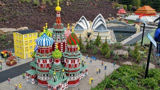 Miniland Explore the World New at Legoland Windsor 2018, Russia, China, India, Australia in Lego