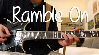 """How to Play """"Ramble On"""" by Led Zeppelin EASY On Guitar"""
