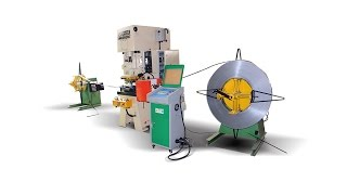 CNC Hole punching production line, HARSLE steel coil pneumatic punch and uncolier with servo feeder