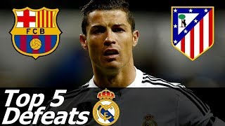 Top 5 Humiliating Real Madrid Defeats with English Commentary 2009-2015 HD 720p