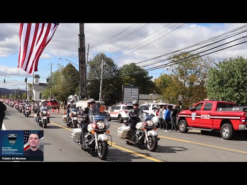Funeral Procession for NYPD Officer Brian Mulkeen (Rockland County)