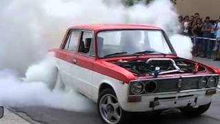 Lada turbo burnout