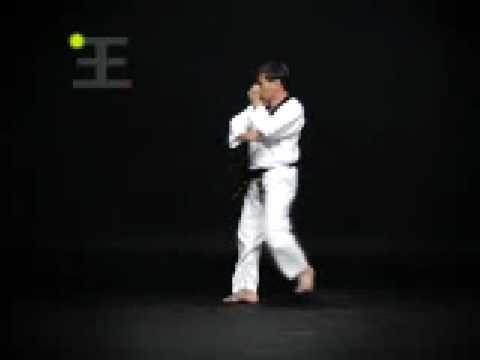 Taeguk Youk Yang Taekwondo Cinturon Azul Punta Roja Poomsae 3 Gup Blue Belt Advanced video